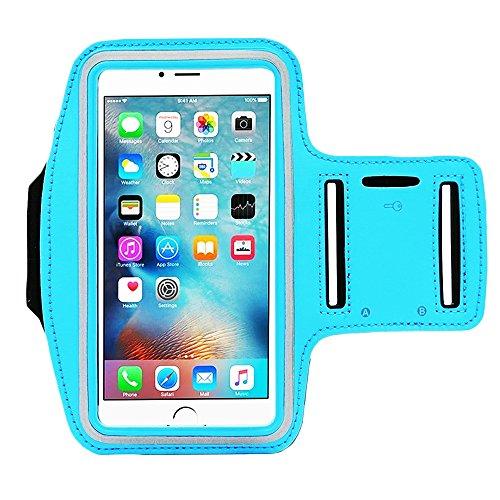 sserabweisend Sport Armband mit Schlüsselfach für iPhone 7, 6, 6S (14cm), Galaxy, S6, S7, S3/S4, iPhone 5/5C/5S, Paket mit Displayschutzfolie vollständigen Zugriff auf Touchscreen ()