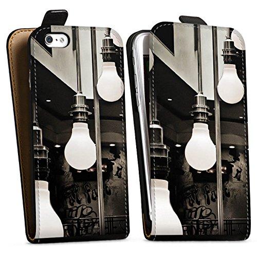 Apple iPhone X Silikon Hülle Case Schutzhülle Hängelampen Lampen Licht Downflip Tasche schwarz