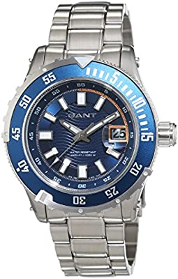GANT TIME PACIFIC W70642 - Reloj para hombres, correa de acero inoxidable color plateado