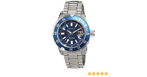 ba76e74ec6f Gant Mens Watch Pacific Analog Quartz Stainless Steel W70642: Amazon.co.uk:  Watches