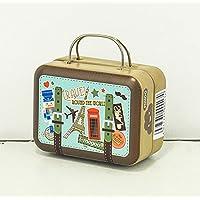 Luxury Home Decor Mini 1:6 Dollhouse Miniature Accessory Mini Suitcase (Brown Travel Case A#)