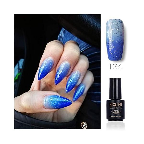 ROSALIND Esmalte de uñas en gel, UV, de larga duración, Color Morado