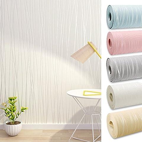 Aruhe® 10M parete semplice carta da parati non tessuto murale che copre design ottico 3D, muro televisore del salotto camera da letto carta da parati decorativa
