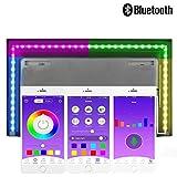 USB LED-Lichtleiste, inextstation LED LED TV Hintergrundbeleuchtung 5V RGBW Ambient Beleuchtung mit Bluetooth App Steuerung und Multi Farbwechsel für 101,6cm zu 152,4cm HDTV, PC-MONITOR (198,1cm lang)