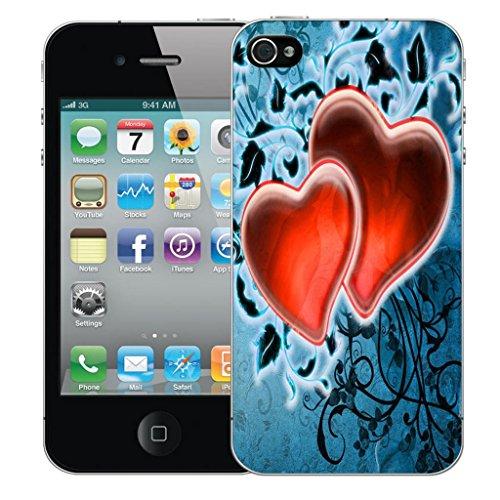 Nouveau iPhone 4 clip on Dur Coque couverture case cover Pare-chocs - sophisticated owl Motif avec Stylet red fondness