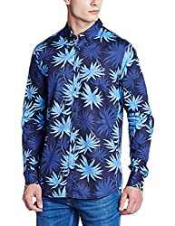 Tommy Hilfiger Mens Casual Shirt (8903876830776_P6AMW057_X-Large_Midnight, Vintage Blue-Eur and Twilight B)