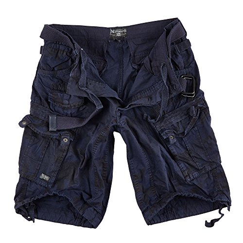 Geographical Norway uomo cargo corti PEOPLE Navy Camo