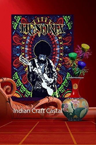 Hendrix guitor Poster Bohemian Psychedelic Hippie Mandala Wandteppich für, Ethnic Dekorative indischen Wohnheim Dekor, 76,2 x 101,6 cm ()