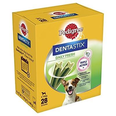 Pedigree Dentastix Fresh Small Dog Dental Chews 28 Stick, Pack of 4 (Total 112 Sticks)