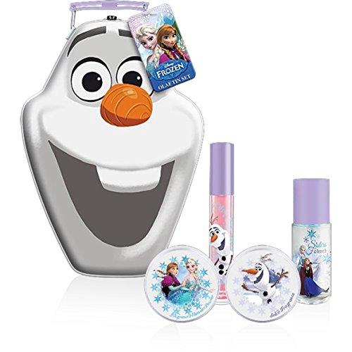 Frozen - Disney Coffret Cadeau Eau de Toilette 15 ml + Poudre Scintillante + Parfum Solide + Brillant à Lèvres Motif La Reine Des Neiges