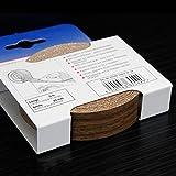 Kantenumleimer für Möbelbauplatten und Regalbretter Nussbaum 5 m x 20 mm