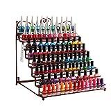 Dazone® Nagellackständer Nagellackdisplay Nagellack Lippenstiftständer Aufbewahrung mit 8 Metall Ablagen (Bronze)