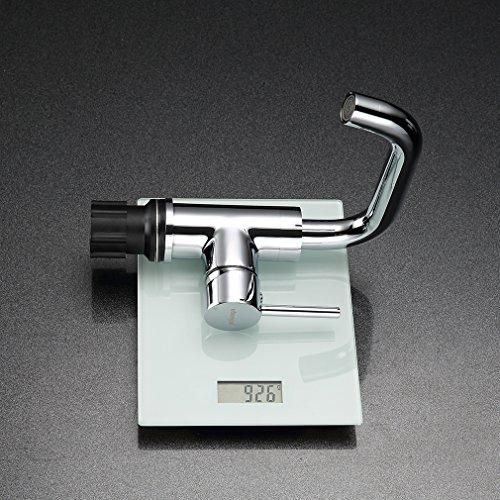 ubeegol 360° Drehbar Wasserhahn Bad Waschtischarmatur Waschbecken Armatur Chrom Einhebelmischer Mischbatterie Badezimmer Küche Spülbecken Küchenarmatur - 5