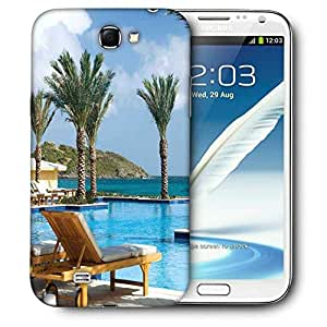 Snoogg Tree In The Pool Printed Protective Phone Back Case Cover For Samsung Galaxy Note 2 / Note II