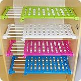 Ausziehbares verstellbares Aufbewahrungsregal für Küchenschrank Kühlschrank Kleiderschrank Bücherregal (30-40 cm)