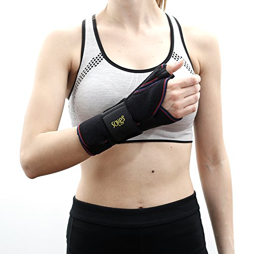 NO.1# HEALTHY LIVING  SOLES WRIST SPLINT (RIGHT HAND) – FITTED SUPPORT BRACE FOR CARPAL TUNNEL, TENDONITIS OR INJURY RECOVERY – THUMB PROTECTION – ADJUSTABLE, COMFORTABLE DESIGN – ONE SIZE FITS ALL REVIEWSUK