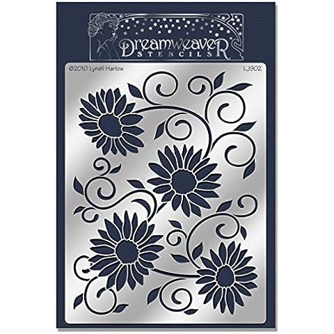 Stampendous-Fustella in metallo, Dreamweaver Stencil 6,875 x 5 cm, colore: nero con stelle Susan - Metallo Stencil
