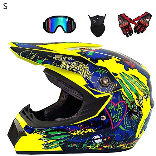 SHOH Carretera Moto Casco Adulto Motocross Casco, 4pcs Juego De Casco De...