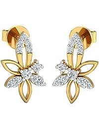 Stylori Sparkling Bara 18k Gold And Diamond Drop Earrings