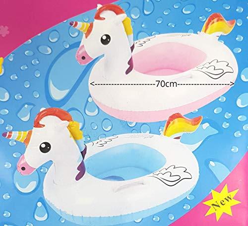 Schwimmring Sitz Boot Pool Kinder Erwachsene Strand Schwimmen Spielzeug Sommerurlaub Strand Spaß FA Kleines Einhorn für Kinder -