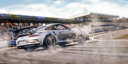 Preisvergleich Produktbild Fahrszene Porsche 911 (991) GT3 RS Hockenheim Leinwand Poster Tapete Mousepad Acrylglas Aluminium BalsaHolz Aufkleber (selbstklebende Tapete,  100 x 50 cm)