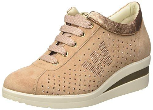 MELLUSO R20119, Sneaker Donna Rosa (Carne)