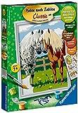 Ravensburger 28180 - Glückliche Pferde - Malen nach Zahlen, 24 x 18 cm