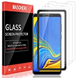 MASCHERI Schutzfolie Für Samsung Galaxy A9 2018 Panzerglas, [3 Pack] Bildschirmschutzfolie [Ausrichtungsrahmen Einfache Installation] Bildschirmschutz Glas Folie Für Samsung A9 2018 - Transparent