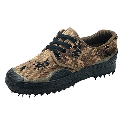 Hibote Unisex Casual Atmungsaktive Camouflage Military Trainer Armee Sportschuhe Durable Rutschfeste Low-Top Turnschuhe Sneakers Outdoor Arbeitsschuhe Trekking Wanderschuhe Tarnung 3 #