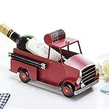 CJH Ornamenti creativi europei del vino del vino camion dei pompieri del vino rosso della bottiglia del vino ornamenti delle decorazioni
