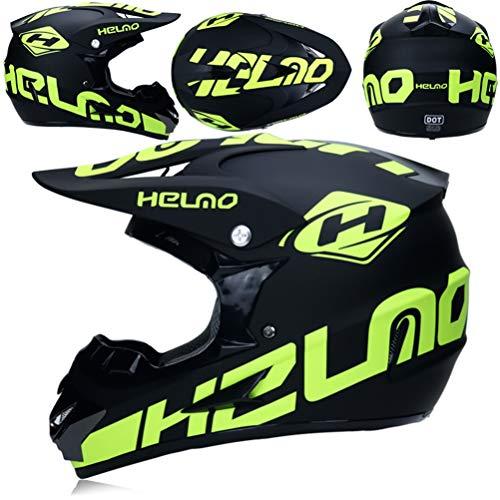 -Helme Hochleistungs-Unisex-Atmungsaktive Scrawl-Schutzkappen Elektrisches Motorradrennen Motorrad Off Road Seasons Universal Racing Schutzkappen 55-62cm ()
