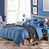 Bettwäsche-Sets 100% Baumwolle Europäische und Amerikanische Stil Mehrfarbige Option Vier-Stück 1,5m Bett (Farbe : #10)