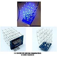 3d cubo de luz Kit UNO Shield 4x 4x 4tamaño DIY Proyecto LED para Arduino por Hayatec