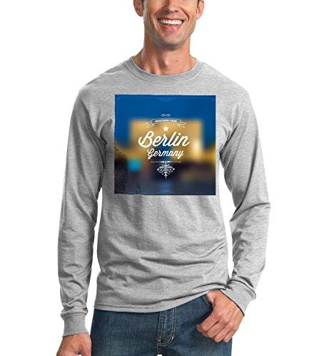 Billion Group | Greetings From Berlin | City Collection | Men's Unisex Sweatshirt Grigio Small