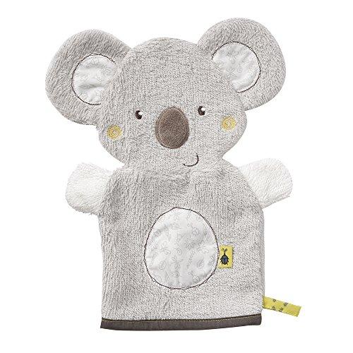 Fehn 064186 Waschhandschuh Koala/Waschlappen mit Tiermotiv für fröhlichen Badespaß, für Babys und Kinder ab 0+ Monaten