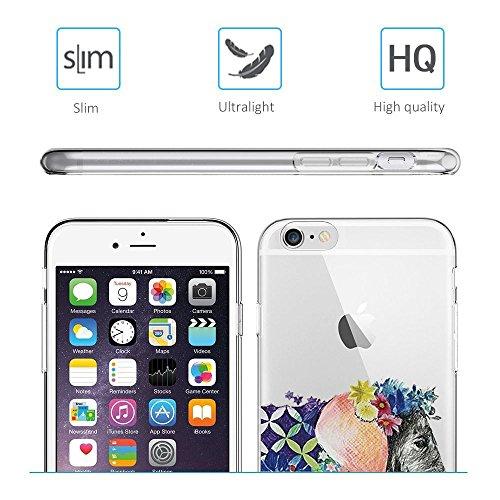 Qissy® Schutzhülle für iPhone 6 plus/6S plus Hülle Case TPU Schutzhülle Crystal Case Hülle Schlank Transparent Weicher Gel Silikon Handy Hülle Bunt Telefon Kasten Abdeckung Case Schutzhülle für iPhone 5