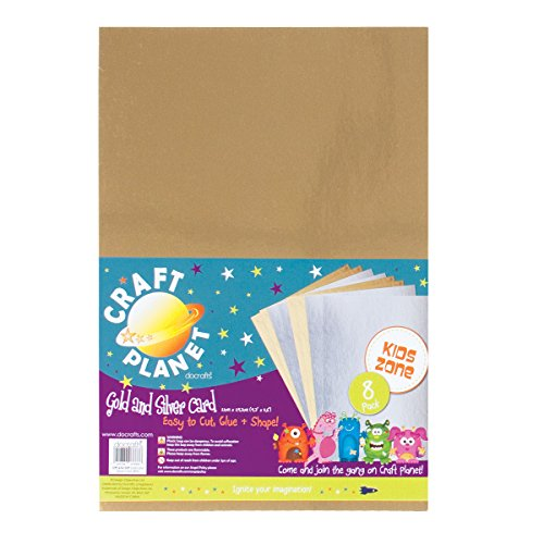craft-planet-a4-250-gsm-card-pack-of-8-gold-silver