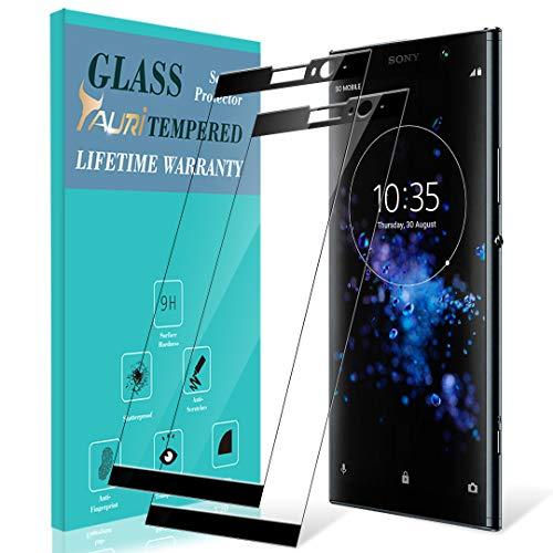 TAURI Schutzfolie Panzerglas für Sony Xperia XA2 Plus Schutzfolie Panzerglas,[2 Stück] [Volle Abdeckung] [9H Härte] Gehärtetem Glas Panzerglas Hartglas Displayschutzfolie - Schwarz