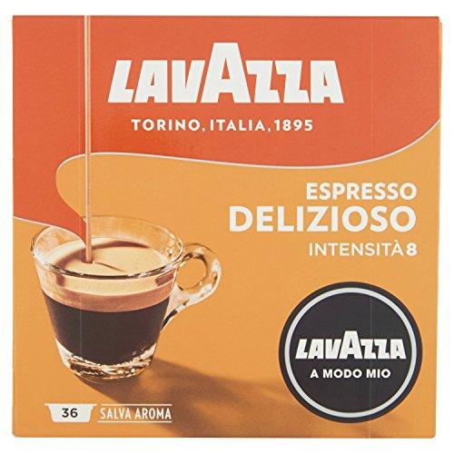 Lavazza Capsule Caffè A Modo Mio Espresso Delizioso - 2 confezioni da 36 capsule [72 capsule]