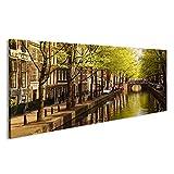 islandburner Bild Bilder auf Leinwand Amsterdam Grachten im