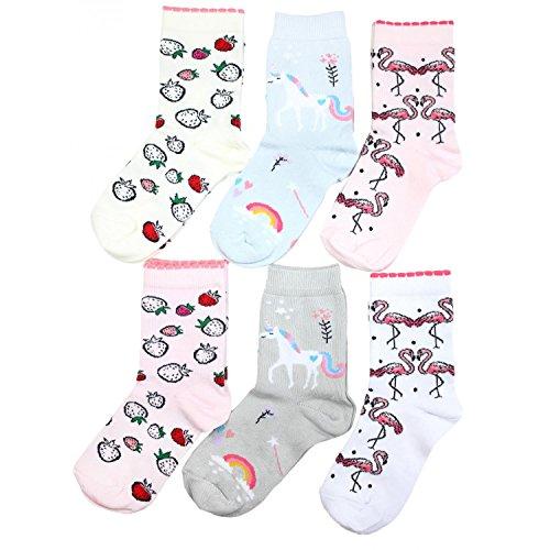 TupTam Unisex Kinder Socken Bunt Gemustert 6er Pack, Farbe: Mädchen 5, Größe: 27-30