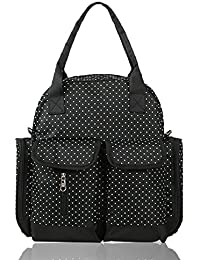 Warmmouse Fashion Diaper Bag Tote Bag Large Messenger Bag Coin Purse (Black)