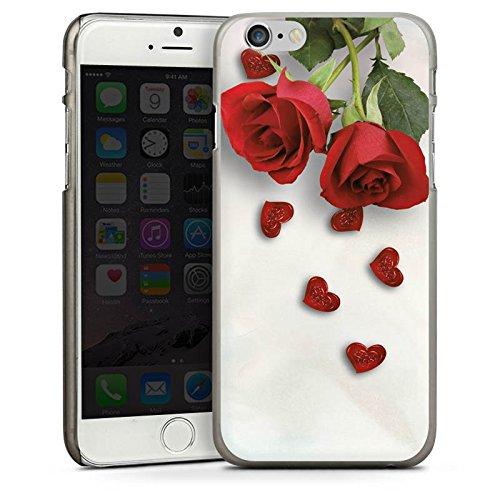 Apple iPhone 5s Housse étui coque protection Rose Roses and Hearts C½ur CasDur anthracite clair