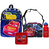 Disney Pixar Cars Lightning McQueen Backpack With Cars Lunch Bag, Pull-Top, & Sandwich Container