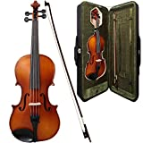 Allieri 15 inch Viola Outfit With Ebony Fittings, Luxury Carry Case and Horsehair Bow - Natural Satin