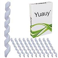 Yuauy - Juego de 10 Protectores de Goma para Cable de Bicicleta en Espiral, antifricción, Color Blanco