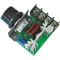 SODIAL (R) 2000W voltaje Regulador atenuacion Velocidad de la Luz monitorizacion de la temperatura