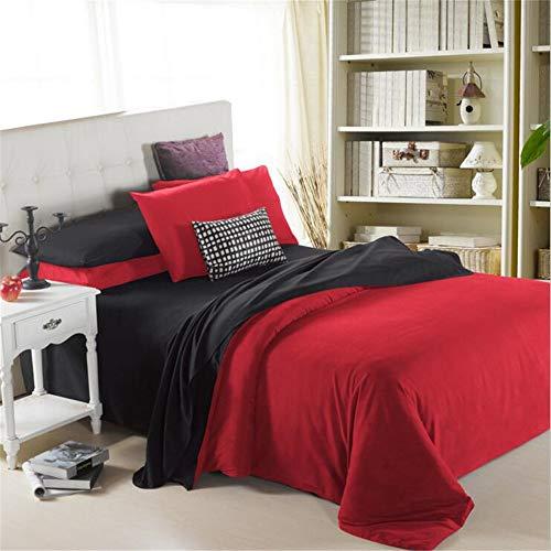 Kleine Ball Heimtextilien-4pcs 3D Bettwäsche Bettwäsche Tröster Cover Set Bettlaken Kissenbezug rot schwarz -