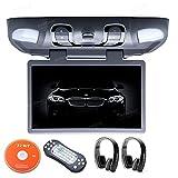 Xtrons® Grey 15.6 Inch HD Digital Widescreen Car Overhead Coach Caravan Roof Flip