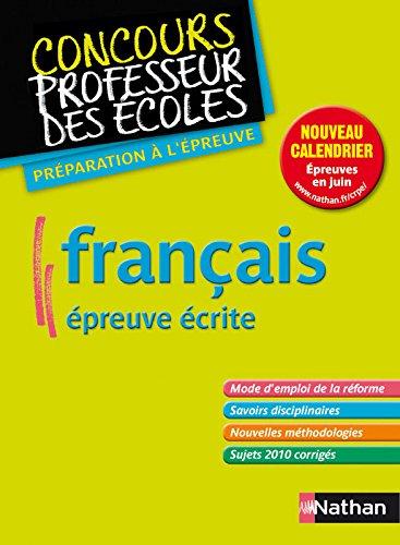 FRANCAIS (CRPE) 2012